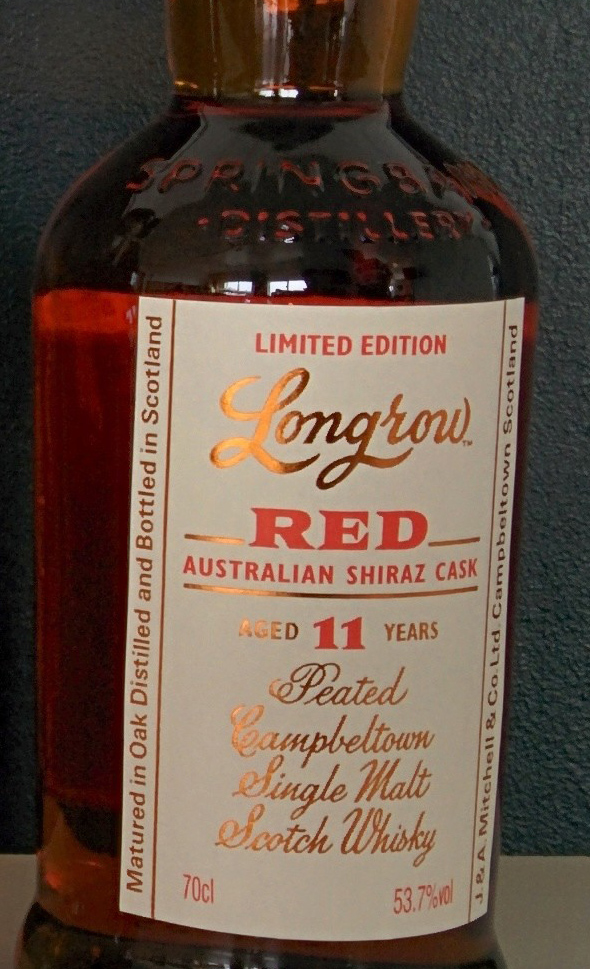 Longrow Red - shiraz cask