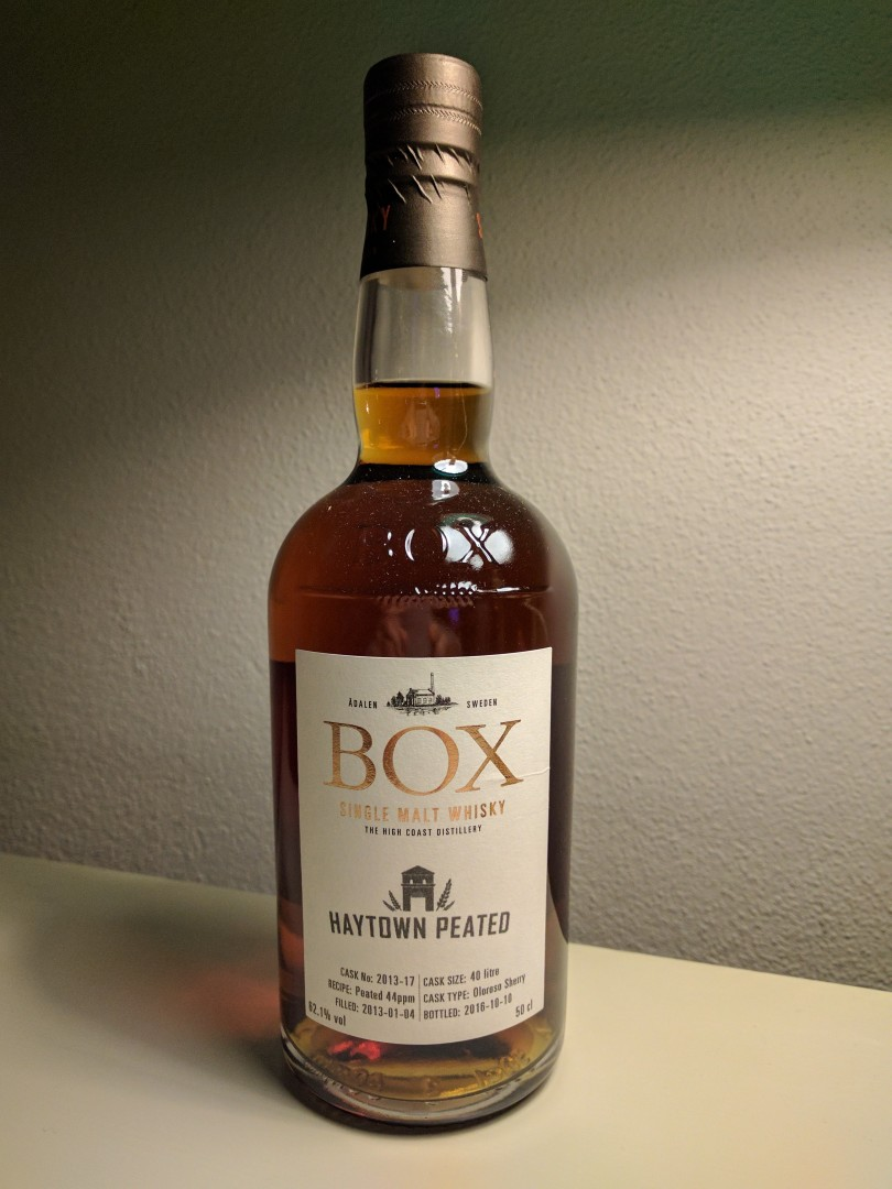 Box – cask owners bottling - Oloroso Sherry Peated