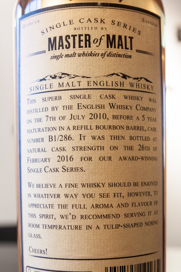 English Whisky Co. Heavily Peated 5