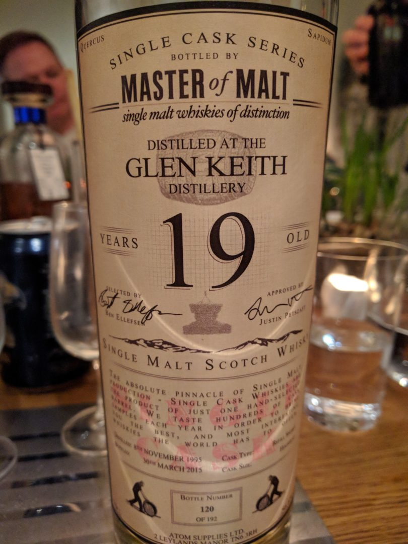 Glen Keith 19, Master of Malt